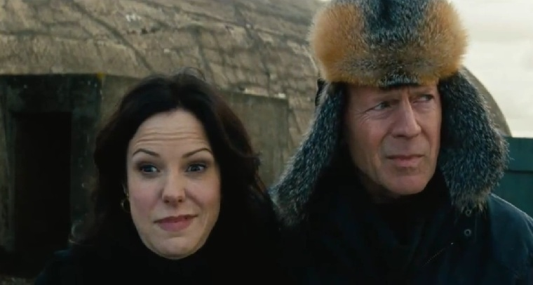 Mary Louise Parker and Bruce Willis pull faces in my most-anticipated action film for August.