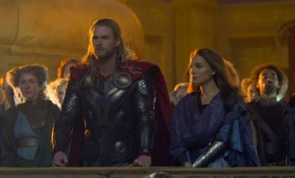 Chris Hemsworth and Natalie Portman pictured here looking out (I really hope) over a fine second instalment for this series.