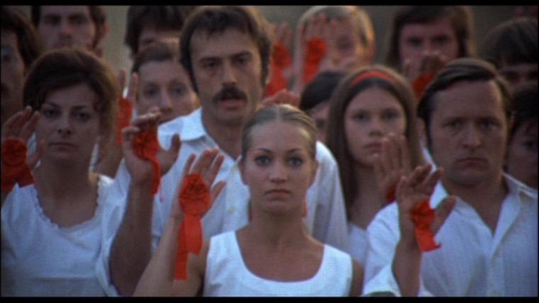 A scene from the highly symbolic Még kér a nép< (Red Psalm, 1972).
