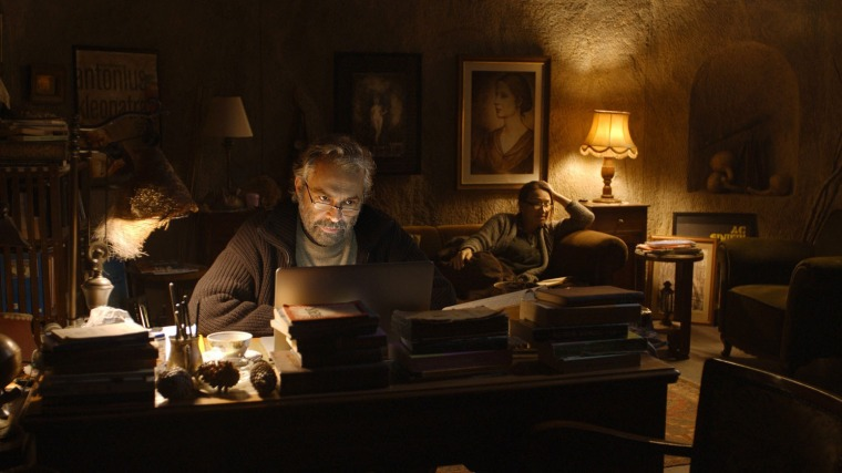 A picture of me writing up my best films list for 2014. (Or else it's from Winter Sleep.)