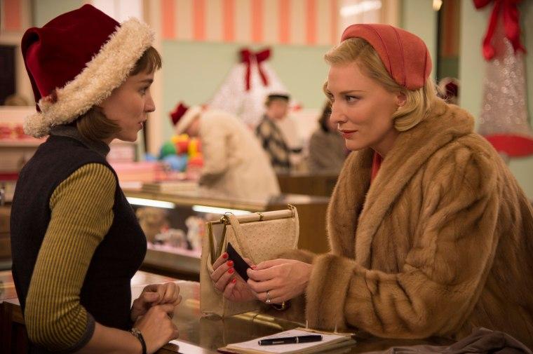 Rooney Mara and Cate Blanchett lock eyes in 'Carol'
