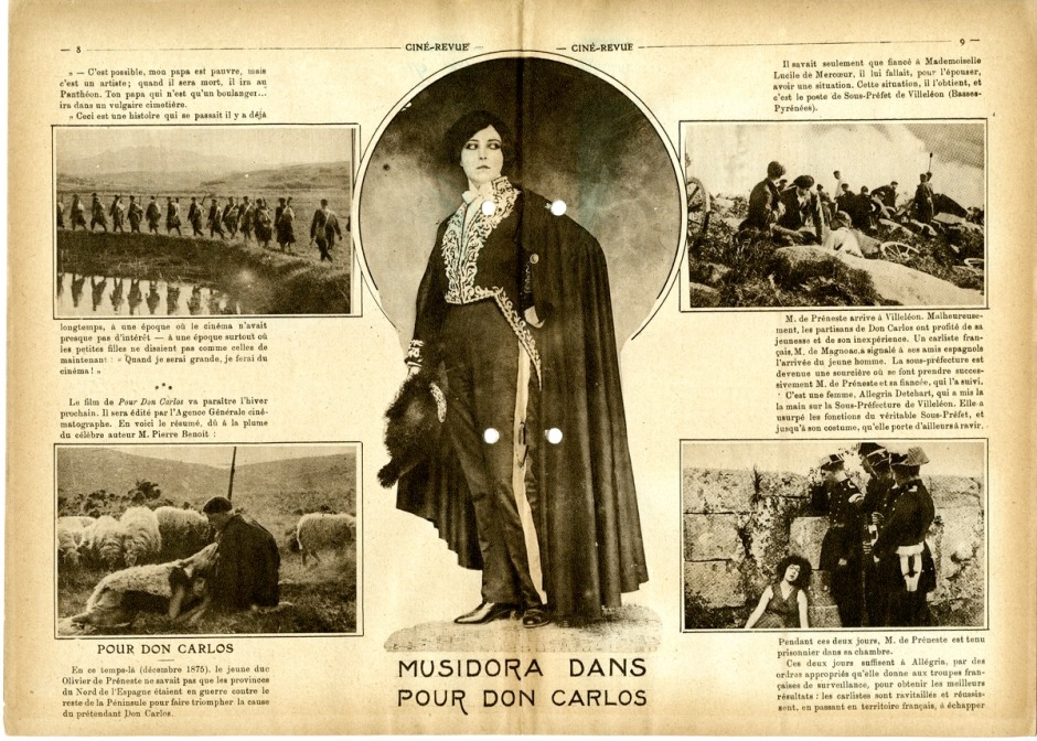 A spread on the film in a 1920s magazine
