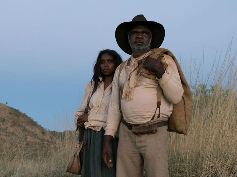 An Aboriginal man and woman in older times