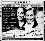 Thank God He Met Lizzie newspaper ad
