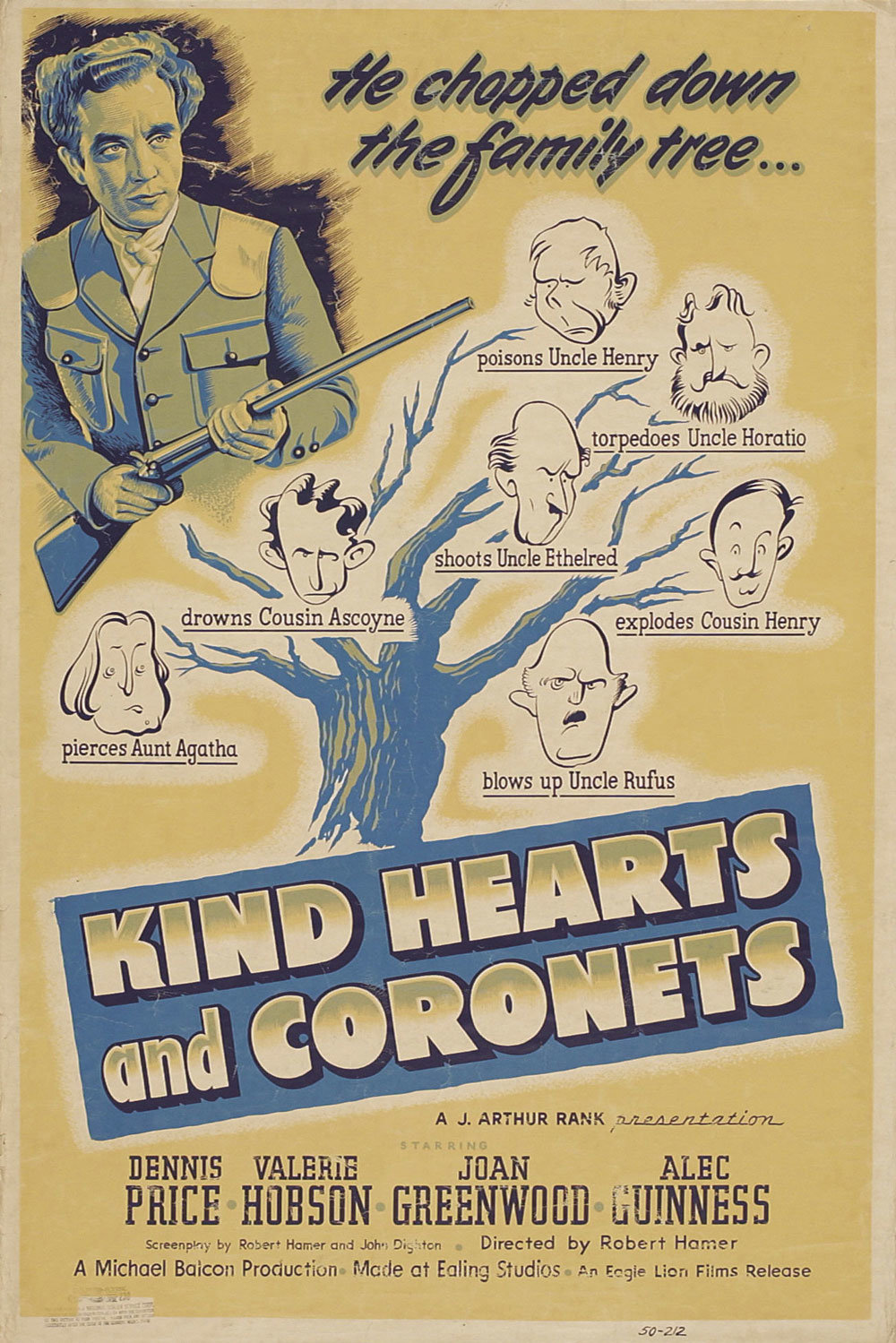 Kind Hearts and Coronets film poster